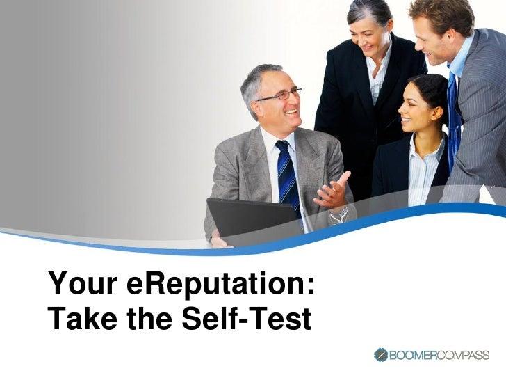 Your eReputation: Take the Self-Test
