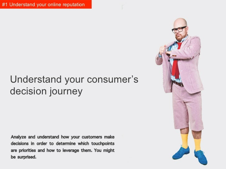#1 Understand it   Understand your consumer's   decision journey   Analyze and understand how your customers make   decisi...