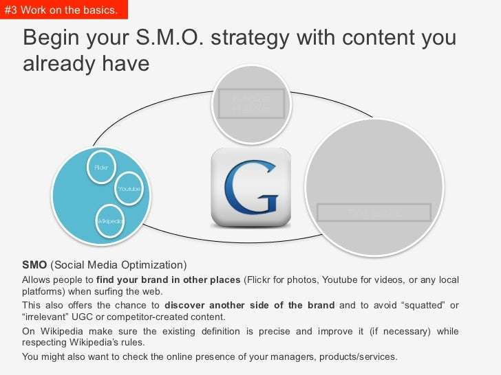 #3 Work on the basics.   Begin your S.M.O. strategy with content you   already have                                       ...