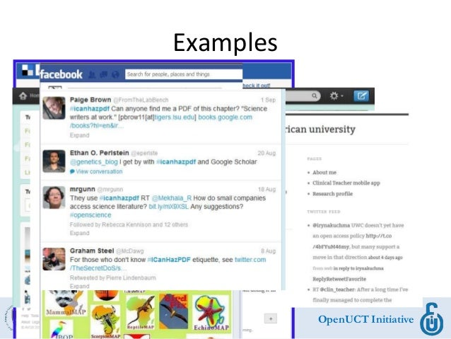 OpenUCT Initiative Examples