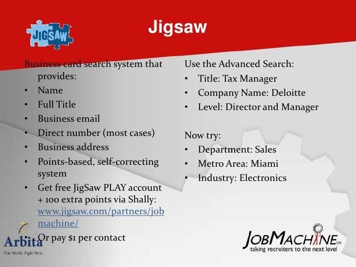 Sourcers daily dozen for ere arbita jobmachine 16 jigsaw business card colourmoves