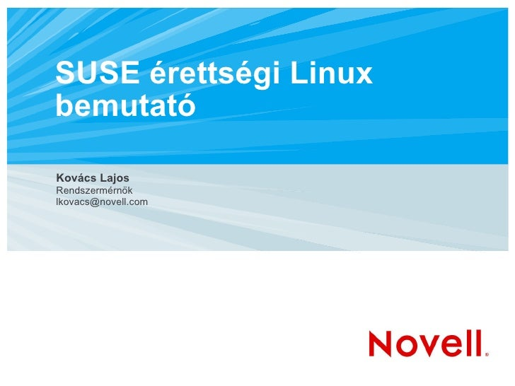 Magyar érettségi Linux kialakítása
