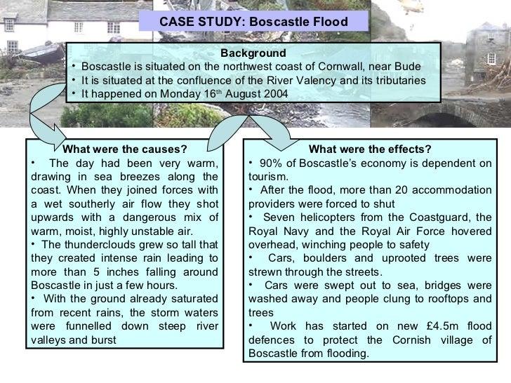 boscastle floods case study a level