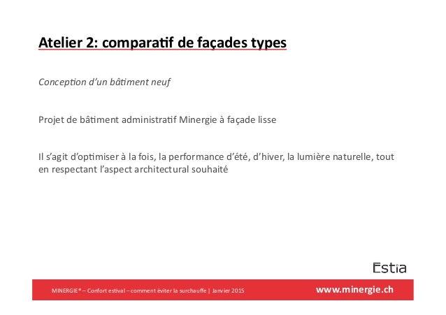 www.minergie.ch+ Atelier+2:+compara6f+de+façades+types+ ! Concep'on(d'un(bâ'ment(neuf( ! Projet!de!bâ&ment!administra&f!Mi...