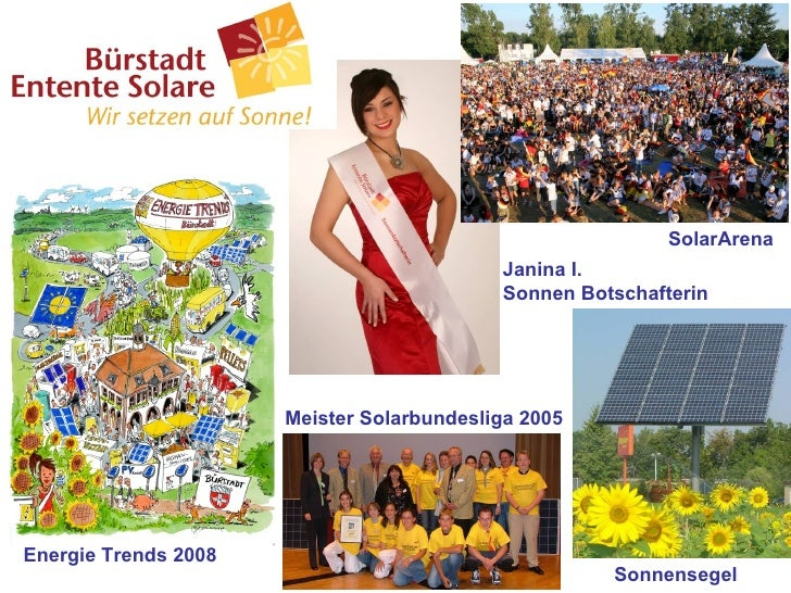 Sonnensegel SolarArena Janina I. Sonnen Botschafterin Meister Solarbundesliga 2005 Energie Trends 2008