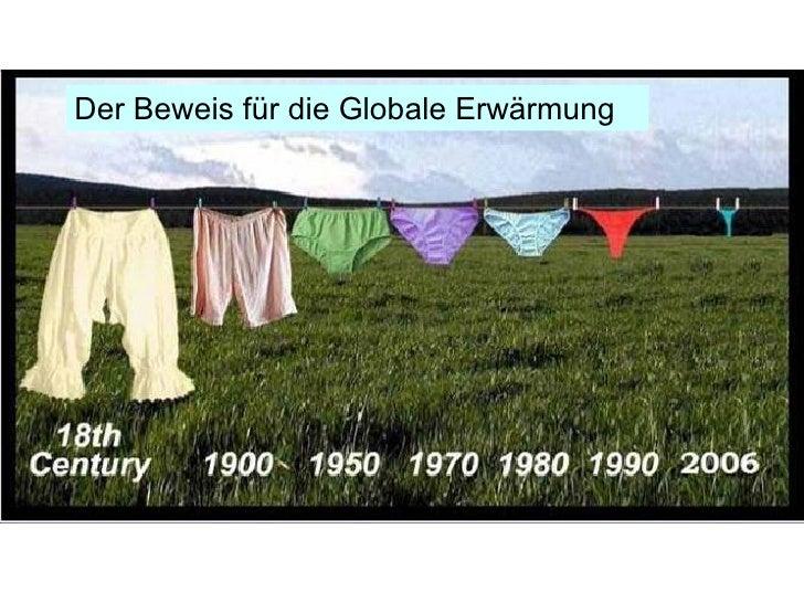 Der Beweis für die Globale Erwärmung