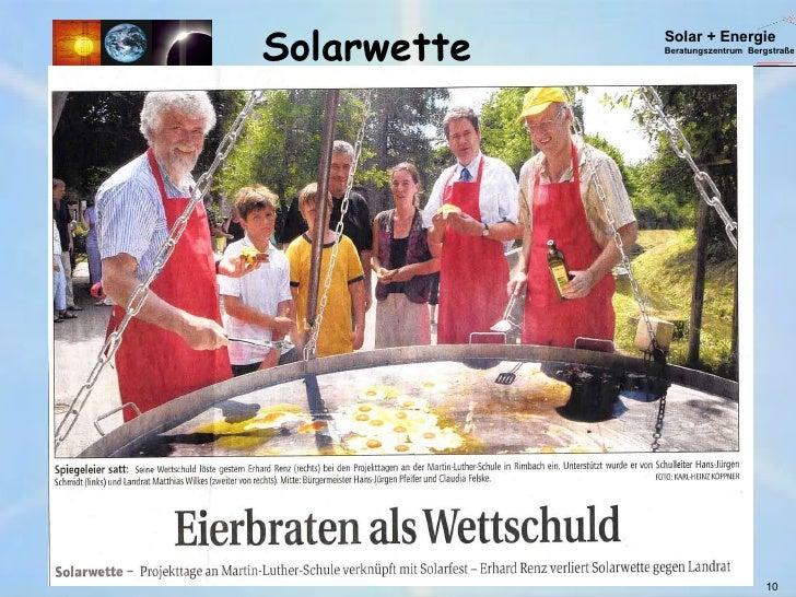 Solarwette 10 Solar + Energie Beratungszentrum  Bergstraße