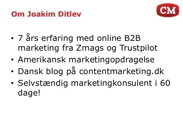 Aarhus Online ERFA | Content marketing af Joakim Ditlev Slide 3