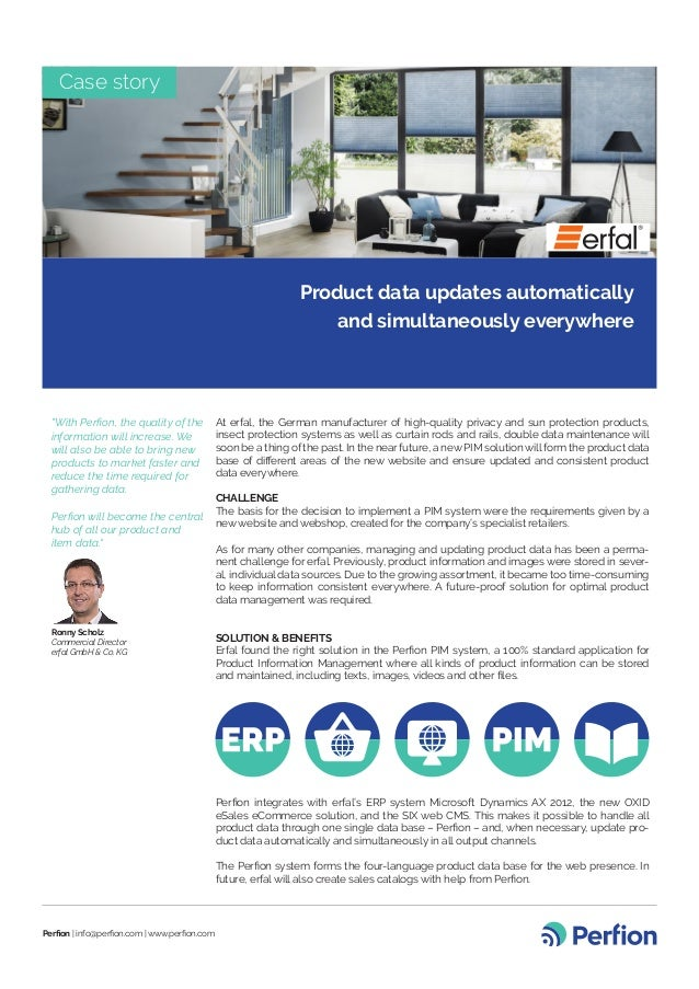 Case Story At Erfal Product Data Updates Automatically And Simultane