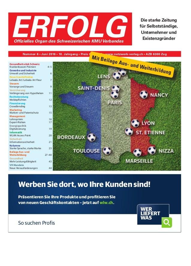 Gesundheitsclub Schweiz Krankenkassen Prämien 4–5 Gewerbe und Industrie Umwelt und Sicherheit 6 Neue Geschäftsidee Lebod...