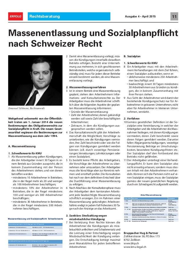 Rechtsberatung 11ERFOLG Ausgabe 4 • April 2015 Weitgehend unbemerkt von der Öffentlich- keit traten am 1. Januar 2014 die ...