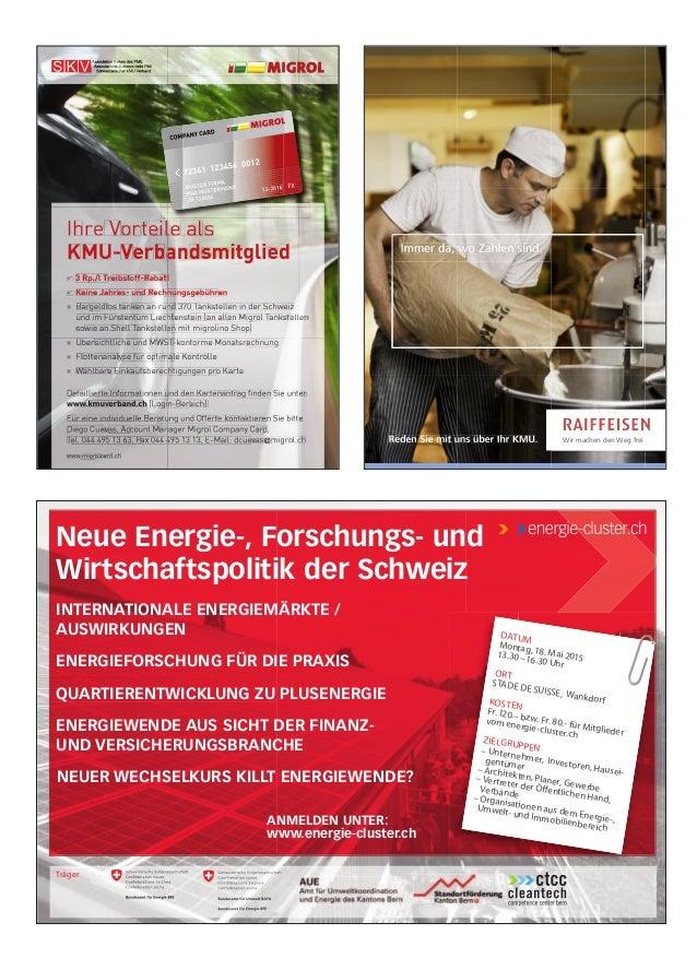Neue Energie-, Forschungs- und Wirtschaftspolitik der Schweiz INTERNATIONALE ENERGIEMÄRKTE / AUSWIRKUNGEN ENERGIEFORSCHUNG...