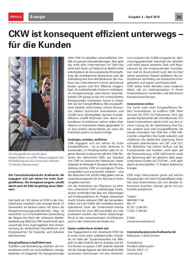 Erfolg Ausgabe Nr. 4 2015