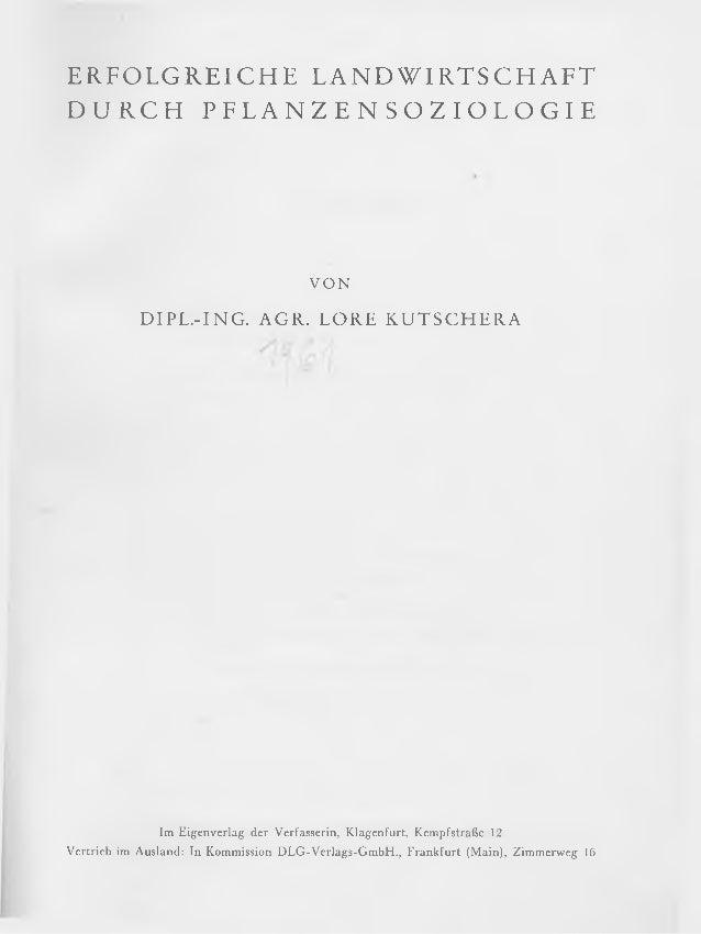 Erfolgreiche Landwirtschaft durch Pflanzensoziologie, Lore Kutschera 1961 Slide 2