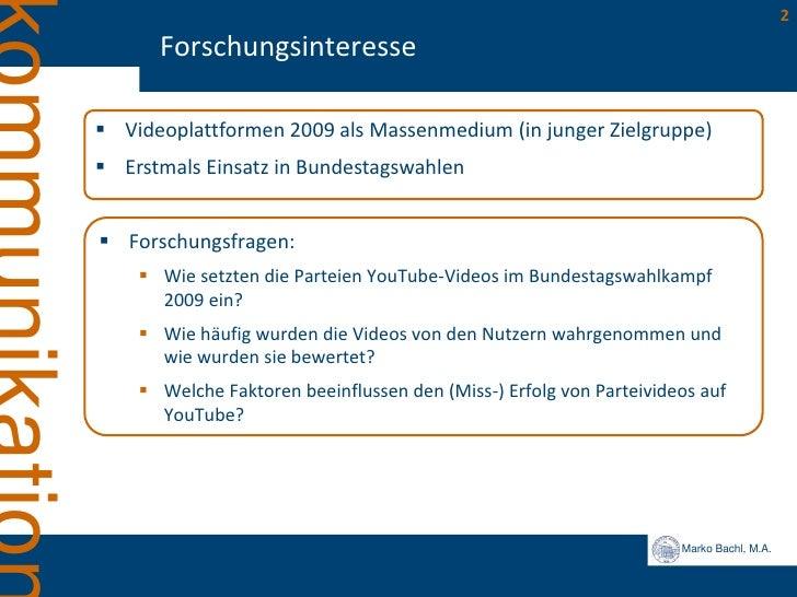 Erfolgsfaktoren politischer YouTube Videos Slide 2