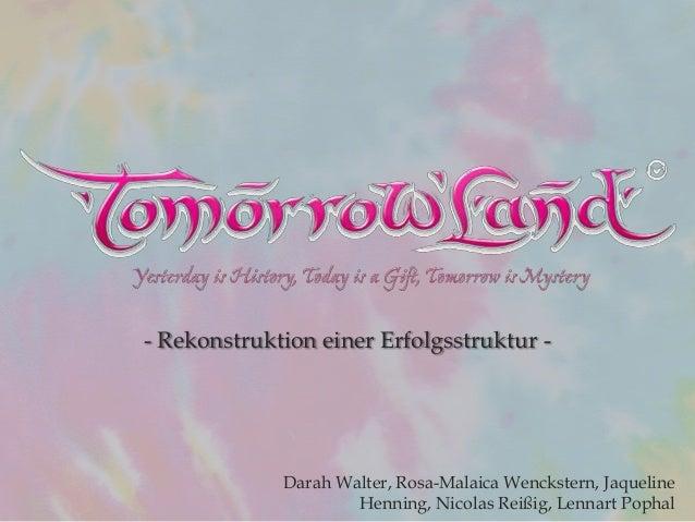- Rekonstruktion einer Erfolgsstruktur - Darah Walter, Rosa-Malaica Wenckstern, Jaqueline Henning, Nicolas Reißig, Lennart...