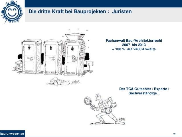bau-unwesen.de 19 Die dritte Kraft bei Bauprojekten : Juristen Fachanwalt Bau-/Architekturrecht 2007 bis 2013 + 100 % auf ...