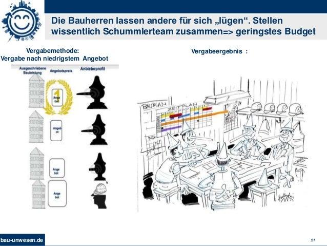 """bau-unwesen.de 27 Die Bauherren lassen andere für sich """"lügen"""". Stellen wissentlich Schummlerteam zusammen=> geringstes Bu..."""