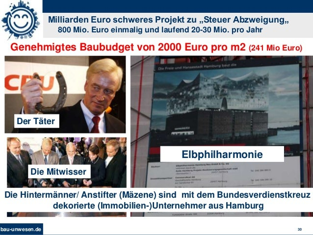 """bau-unwesen.de 30 Milliarden Euro schweres Projekt zu """"Steuer Abzweigung"""" 800 Mio. Euro einmalig und laufend 20-30 Mio. pr..."""