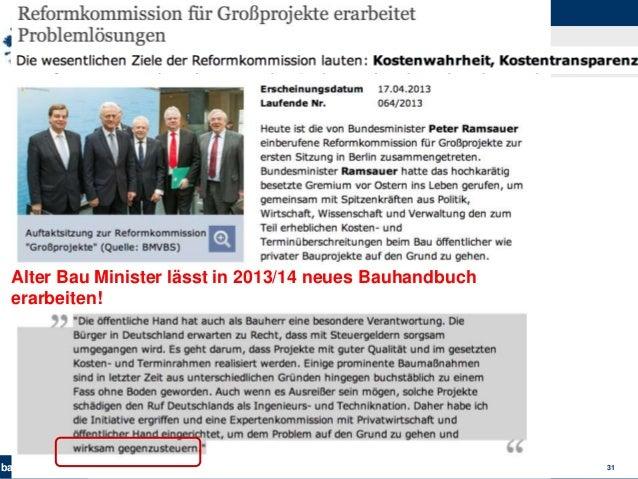 bau-unwesen.de 31 Alter Bau Minister lässt in 2013/14 neues Bauhandbuch erarbeiten!