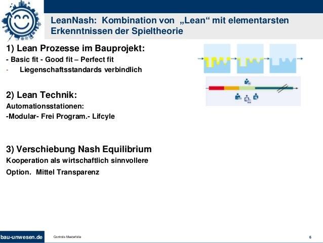 """bau-unwesen.de 6Controls Masterfolie LeanNash: Kombination von """"Lean"""" mit elementarsten Erkenntnissen der Spieltheorie 1) ..."""