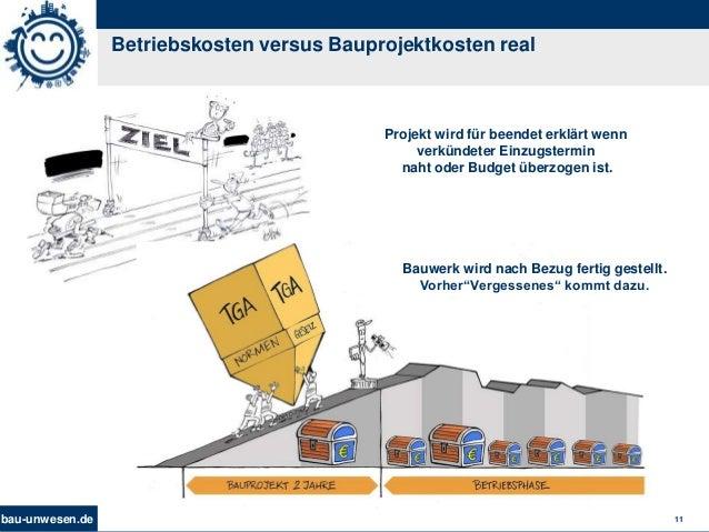 bau-unwesen.de 11 Betriebskosten versus Bauprojektkosten real Projekt wird für beendet erklärt wenn verkündeter Einzugster...