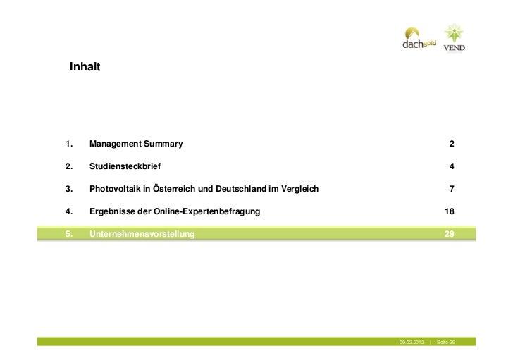 Inhalt1.   Management Summary                                                              22.   Studiensteckbrief        ...