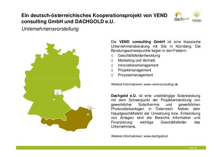 Ein deutsch-österreichisches Kooperationsprojekt von VENDconsulting GmbH und DACHGOLD e.U.Unternehmensvorstellung         ...