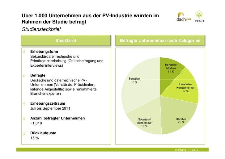Über 1.000 Unternehmen aus der PV-Industrie wurden imRahmen der Studie befragtStudiensteckbrief                  Steckbrie...