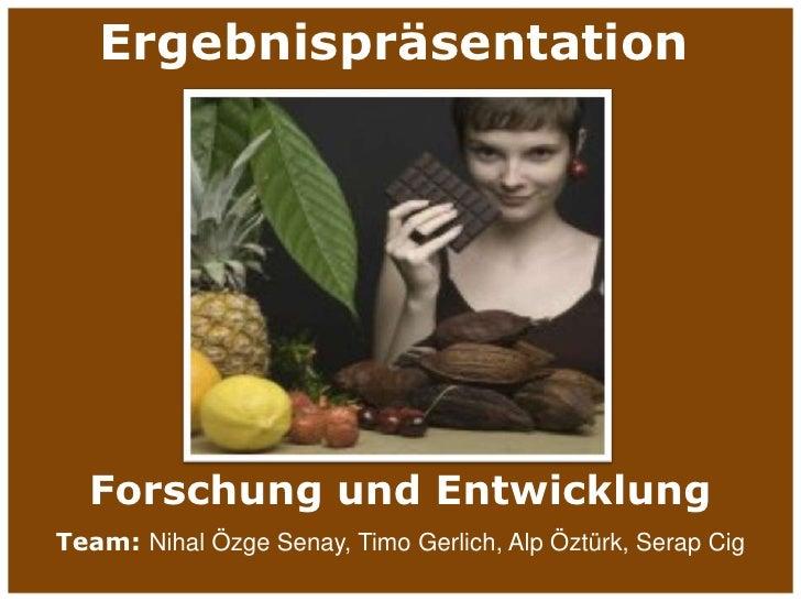 XoC - Forschung und Entwicklung<br />1<br />Ergebnispräsentation<br />Forschung und Entwicklung<br />Team: Nihal Özge Sena...