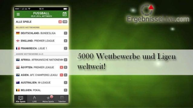 ErgebnisseLive.com App Slide 3