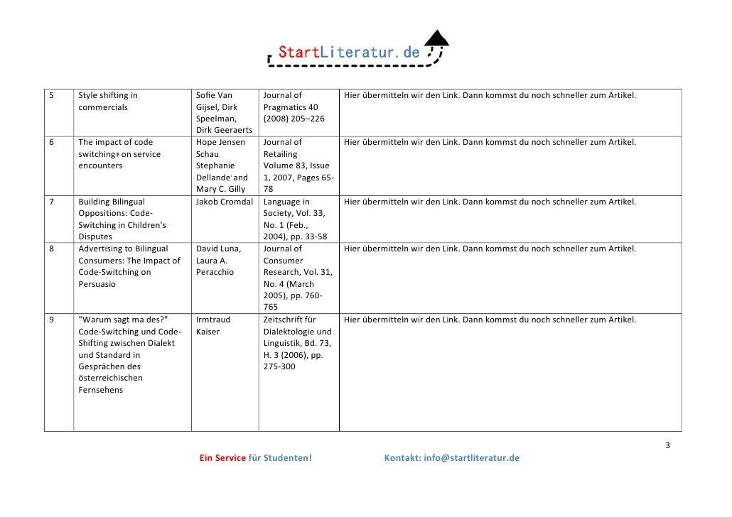 Ergebniss der Startliteraturrecherche Slide 3