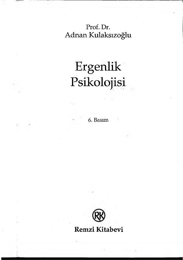 Ergenlik Psikolojisi Adnan Kulaksızoğlu