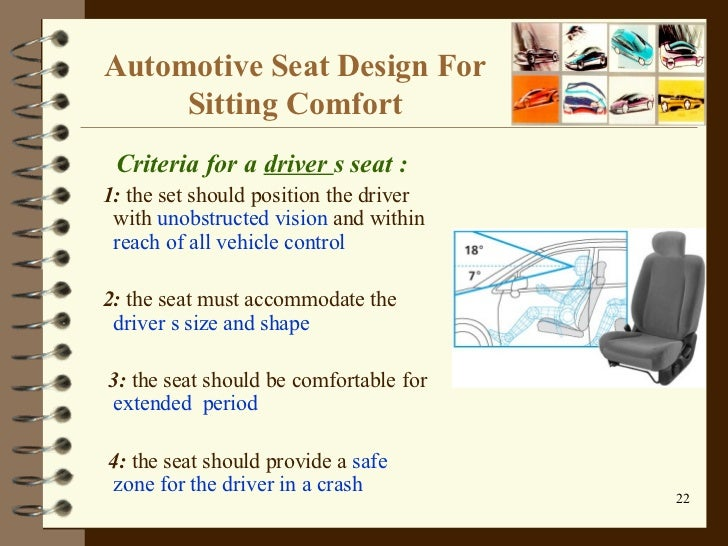 Car Seat Design Ppt Car Seat Design For Driver