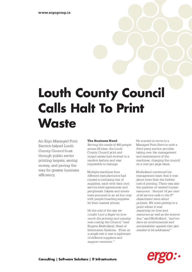 Ergo Managed Print Services Louth County Council Case Study