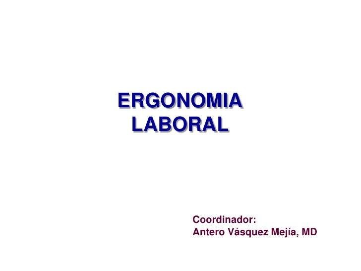 Ergonomía laboral Slide 2
