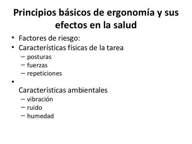 Ergonom a y efectos en la salud for Caracteristicas de la ergonomia