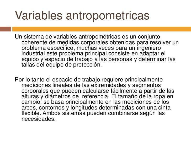 Ergonomia for Cuales son medidas antropometricas