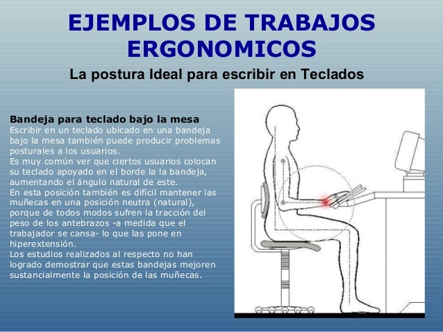 Ergonomia fisioterapia for Ejemplos de muebles ergonomicos