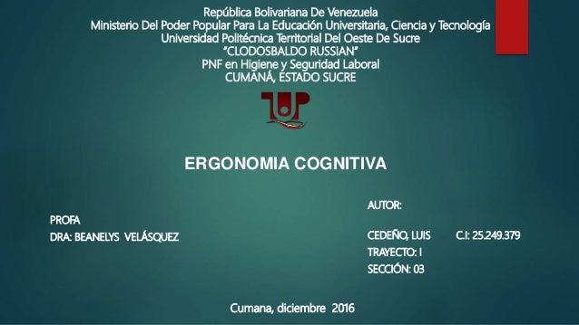 República Bolivariana De Venezuela Ministerio Del Poder Popular Para La Educación Universitaria, Ciencia y Tecnología Univ...