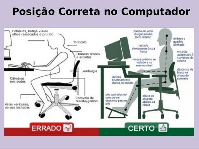 Posição Correta no Computador