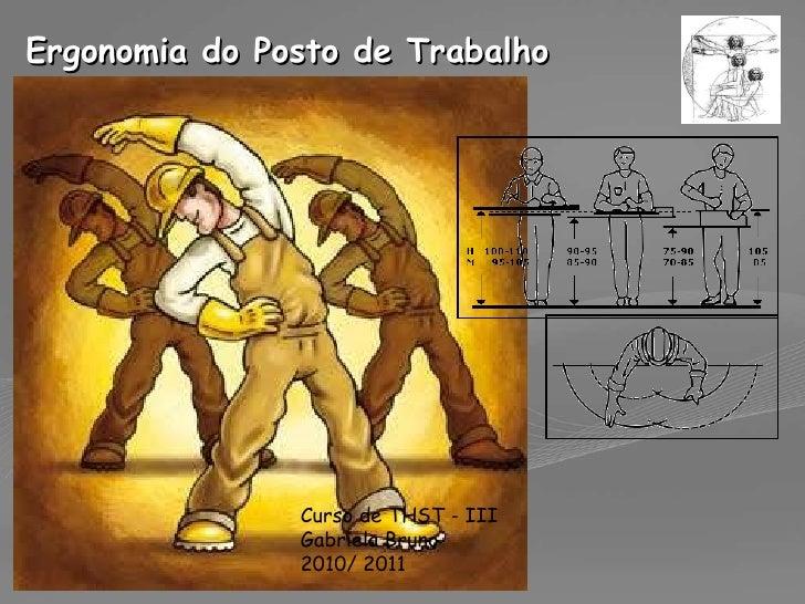 Ergonomia do Posto de Trabalho Curso de THST - III Gabriela Bruno 2010/ 2011