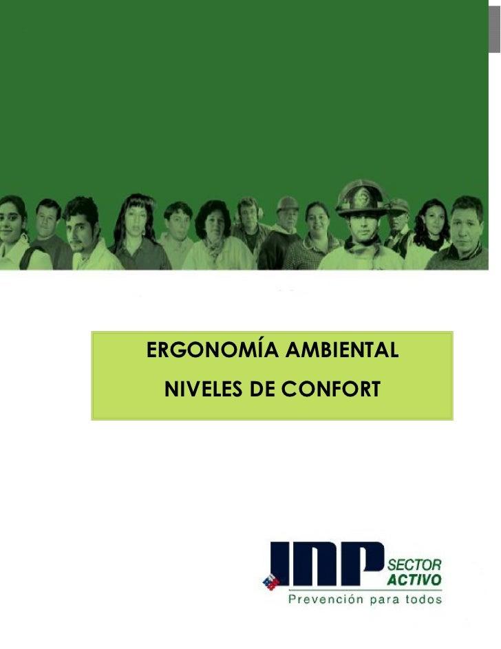 ERGONOMÍA AMBIENTAL NIVELES DE CONFORT