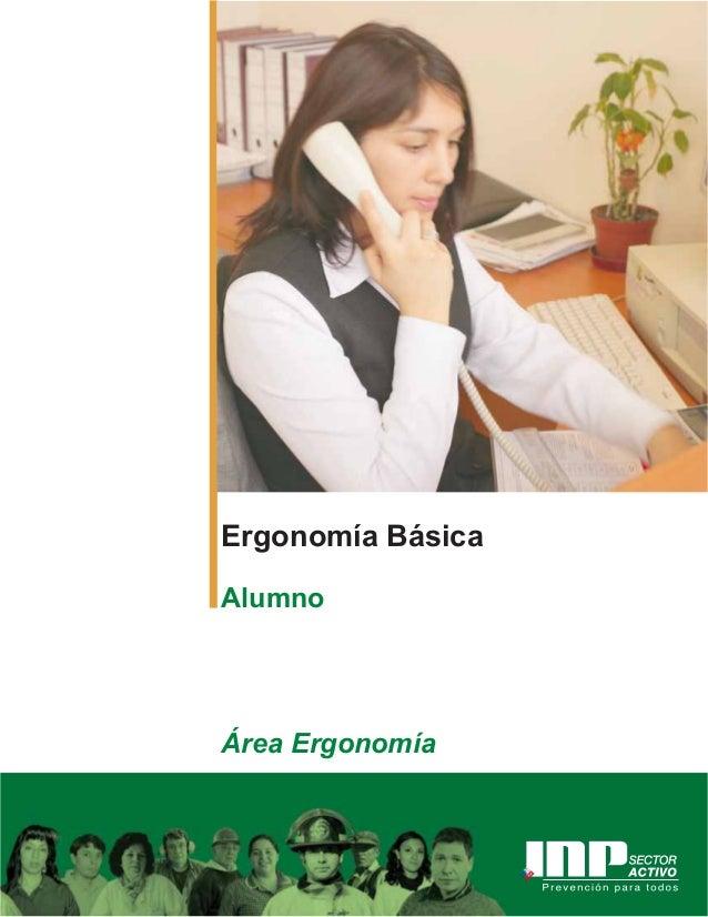 Ergonomía Básica Alumno Área Ergonomía