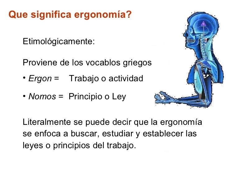 Ergonomia industrial i for Para que sirve la ergonomia