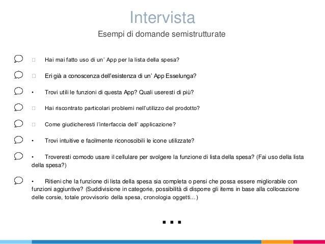 Ergonomia app esselunga for Intervista domande