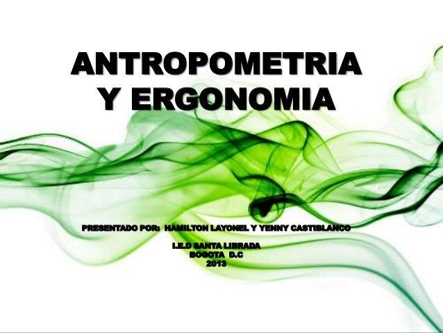 ergonomia y antropometria ForAntropometria Y Ergonomia