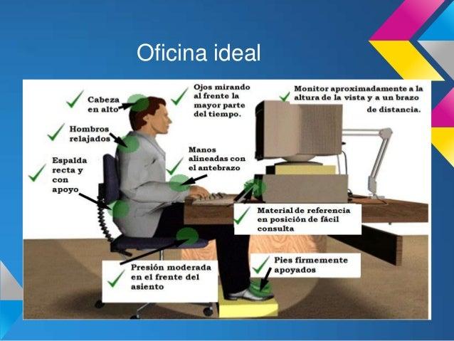 ergonomia y efectos en la 1 On ergonomia en la oficina ppt