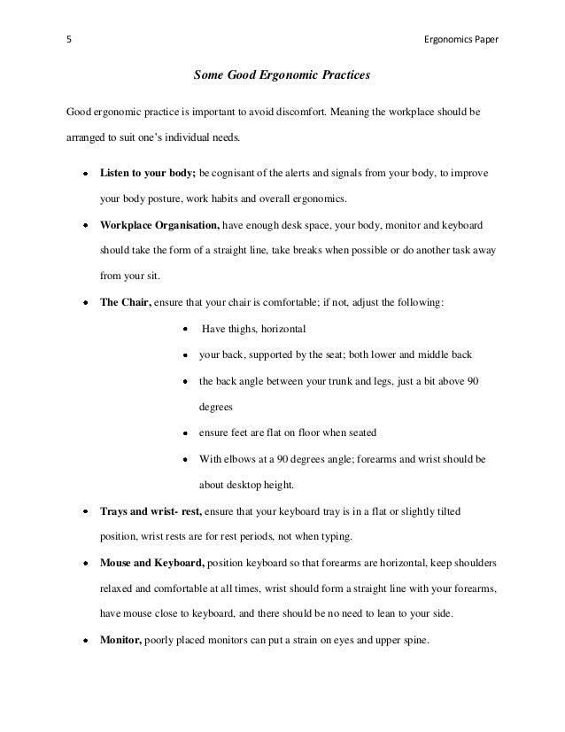 ergonomics paper