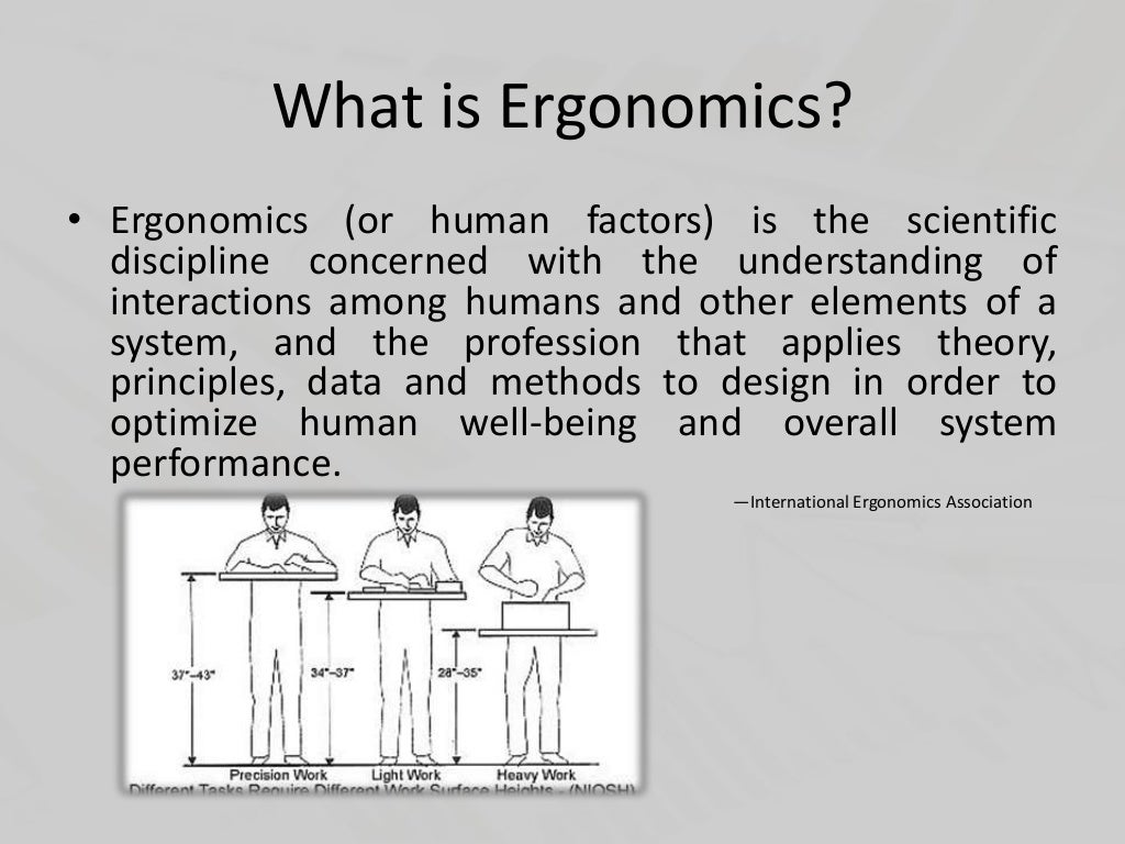 immune system and ergonomics A disorder in which the body's immune system attacks its own tissues  pay attention to ergonomics if you spend long periods at a keyboard, take regular breaks.